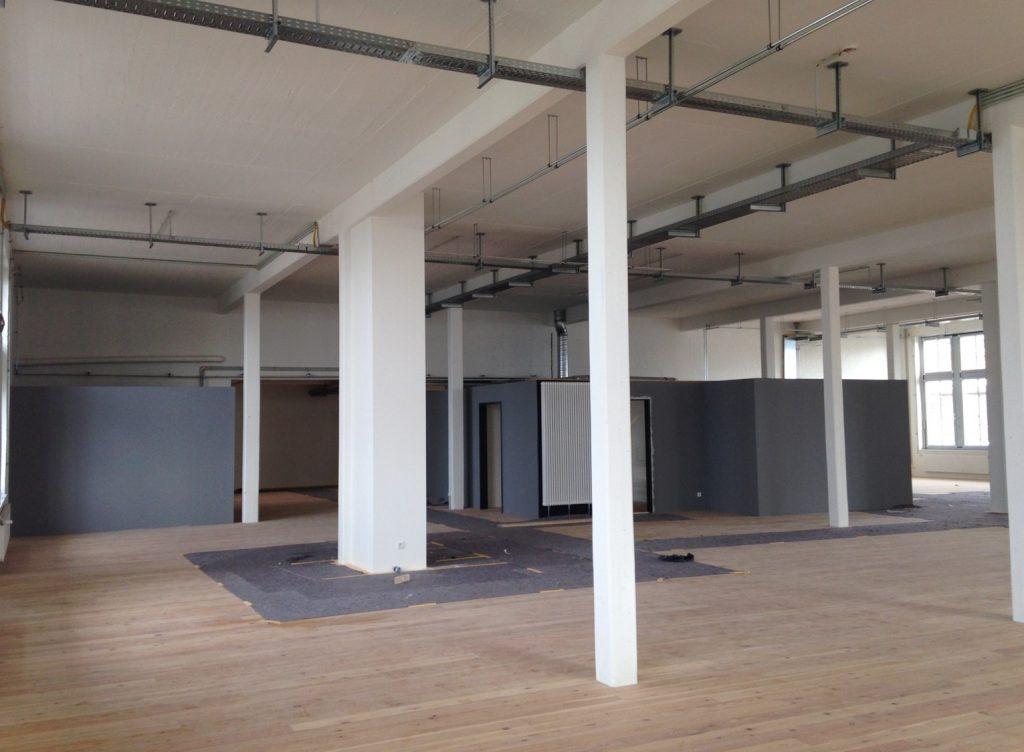 Büroräume im industriellen Stil
